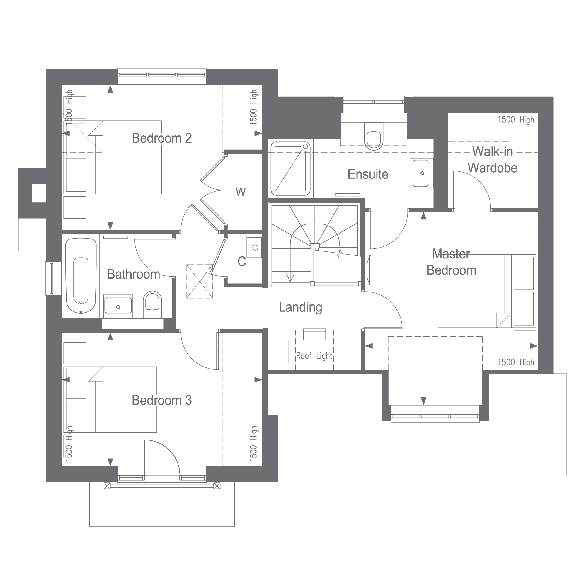 The Henfield First Floor Plan, Woodgate at Pease Pottage